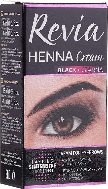 Barvící krém na obočí a řasy Revia Henna Cream - Revia Eyebrows Henna