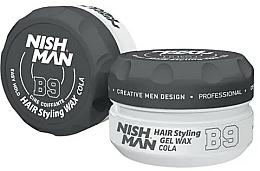 Parfémy, Parfumerie, kosmetika Stylingový gelový vosk na vlasy - Nishman Hair Styling Gel Wax B9 Cola