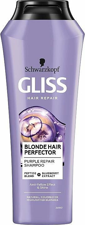Regenerační šampon pro světlé vlasy - Schwarzkopf Gliss Kur Blonde Hair Perfector Purple Repair Shampoo
