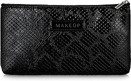 Parfémy, Parfumerie, kosmetika Kosmetická taštička, černá, plochá Black Snake - Makeup