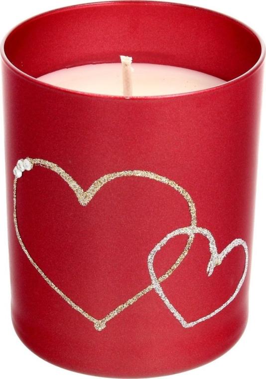 Dekorativní svíčka červená, 8x9,5cm - Artman Forever Glass — foto N1