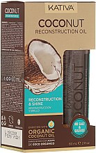 Parfémy, Parfumerie, kosmetika Obnovující olej na vlasy - Kativa Coconut Reconstruction Oil