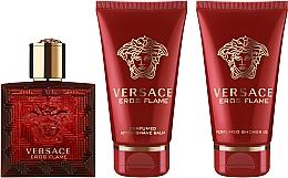 Parfémy, Parfumerie, kosmetika Versace Eros Flame - Sada(edp/50ml + sh/gel/50ml + ash/balm/50ml)