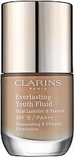Parfémy, Parfumerie, kosmetika Odolný tónovácí fluid s omlazovacím účinkem SPF 15 - Clarins Everlasting Youth Fluid