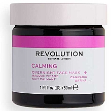 Parfémy, Parfumerie, kosmetika Plaťová maska - Revolution Skincare Stressed Mood Calming Night Face Mask
