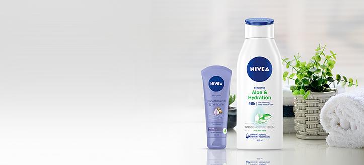 Slevy až -20% na akční produkty Nivea. Ceny na webu jsou včetně slev
