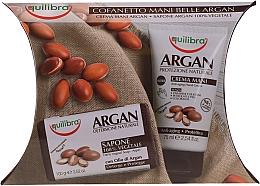 Parfémy, Parfumerie, kosmetika Sada - Equilibra Argan (h/cr/75ml + soap/100g + cr/4ml)