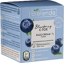 Parfémy, Parfumerie, kosmetika Zvlhčující a zesvětlující krém-pěna na obličej - Bielenda Blueberry C-Tox Face Cream