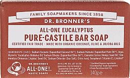"Parfémy, Parfumerie, kosmetika Mýdlo ""Eukalypt"" - Dr. Bronner's Pure Castile Bar Soap Eucalyptus"