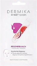 Parfémy, Parfumerie, kosmetika Regenerační maska s fíkovým hydrolyzátem - Dermika Sheet Mask