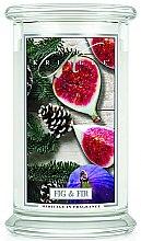 Parfémy, Parfumerie, kosmetika Vonná svíčka ve sklenici - Kringle Candle Fig & Fir