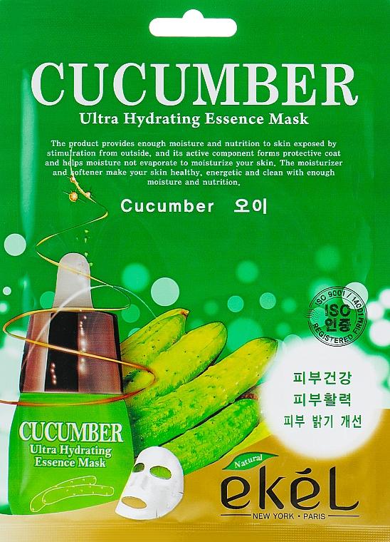 Látková pleťová maska s okurkovým extraktem - Ekel Cucumber Ultra Hydrating Essence Mask