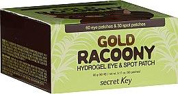 Parfémy, Parfumerie, kosmetika Hydrogelové náplasti na pleť kolem očí se zlatem - Secret Key Gold Racoony Hydrogel Eye Spot Patch