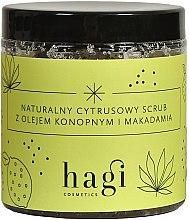 Parfémy, Parfumerie, kosmetika Přírodní citrusový scrub s konopím a makadamovým olejem - Hagi Scrub