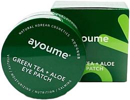 Parfémy, Parfumerie, kosmetika Náplasti pod oči s extraktem ze zeleného čaje a aloe - Ayoume Green Tea + Aloe Eye Patch