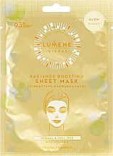 Parfémy, Parfumerie, kosmetika Látková maska-záření pro obličej - Lumene Kirkas Radiance Boosting Sheet Mask