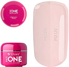 Parfémy, Parfumerie, kosmetika Gel na nehty - Silcare Uv Gel Builder Base One French Pink
