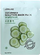 Parfémy, Parfumerie, kosmetika Pleťová maska látková s okurkou - Lebelage Cucumber Solution Mask