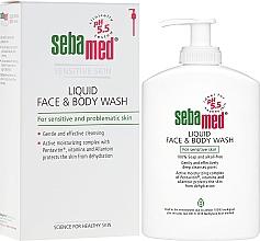 Parfémy, Parfumerie, kosmetika Čistící mléko na obličej a tělo s dávkovačem - Sebamed Liquid Face and Body Wash