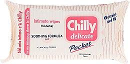 """Parfémy, Parfumerie, kosmetika Ubrousky pro intimní hygienu """"Delikátní"""" - Chilly Gel Delicate Intimate Wipes"""