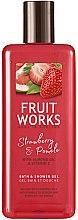 Parfémy, Parfumerie, kosmetika Sprchový gel Jahoda a pomelo - Grace Cole Fruit Works Hand Wash Strawberry & Pomelo
