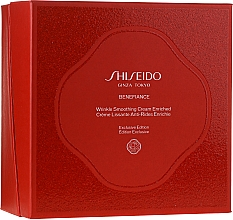 Parfémy, Parfumerie, kosmetika Sada - Shiseido Benefiance Wrinkle Smoothing Cream Enriched Holiday Kit (f/cr/50ml + foam/15ml + treat/30ml + conc/10ml + eye/cr/2ml)