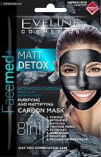 Parfémy, Parfumerie, kosmetika Čistící matující uhlíková maska - Eveline Cosmetics Facemed+ Matt Detox Mask