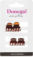 Parfémy, Parfumerie, kosmetika Spona-krabik na vlasy FA-5819,mini, hnědá, 4 ks - Donegal Hair Clip
