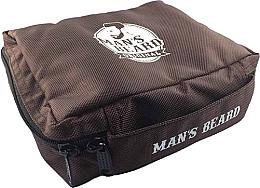Parfémy, Parfumerie, kosmetika Pánská cestovní kosmetická taštička textilní, MB210 - Man's Beard Brown Men's Toiletry Bag