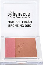 Parfémy, Parfumerie, kosmetika Tvářenka-bronzer na obličej - Benecos Natural Fresh Bronzing Duo