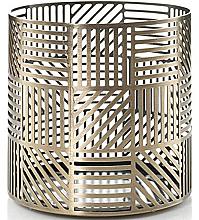 Parfémy, Parfumerie, kosmetika Svícen pro svíčku - Yankee Candle Crosshatch Brass Jar Holder