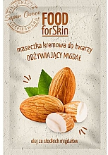 Parfémy, Parfumerie, kosmetika Plaťová maska - Marion Food for Skin Cream Mask Nourishing Almond