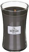 Parfémy, Parfumerie, kosmetika Vonná svíčka ve sklenici - WoodWick Hourglass Candle Black Amber And Citrus