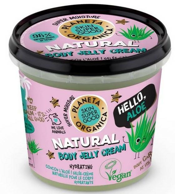 "Krém-žele na tělo ""Ahoj, Aloe"" - Planeta Organica Natural Body Jelly Cream Hello Aloe"