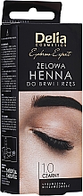 Parfémy, Parfumerie, kosmetika Gelová barva na obočí, černá - Delia Eyebrow Tint Gel ProColor 1.0 Black