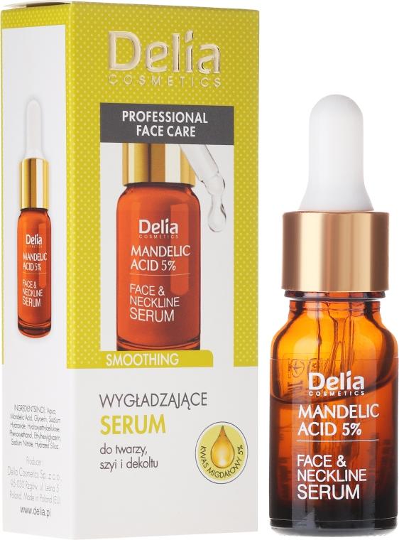 Sérum pro obličej, krk a dekolt, s mandlovým olejem - Delia Mandelic Acid 5% Active Face & Neckline Serum