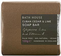 Parfémy, Parfumerie, kosmetika Bath House Cuban Cedar & Lime - Parfémované mýdlo
