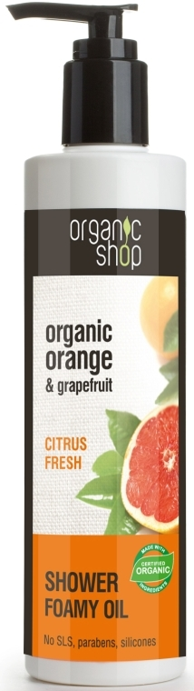Pěnící sprchový olej Citrusový fresh - Organic shop Body Foam Oil Organic Orange and Grapefruit — foto N1