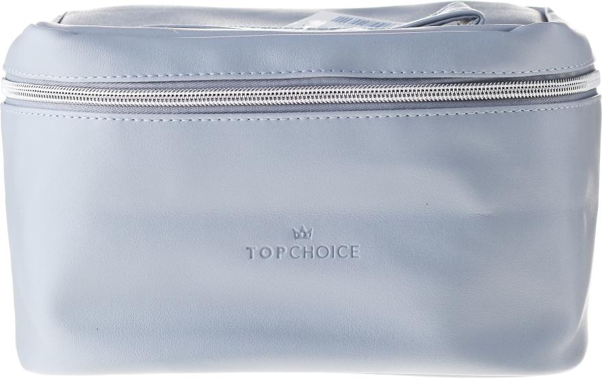 """Kosmetická taštička """"Leather"""", 24x14x13.5 cm, 96990, šedá - Top Choice"""