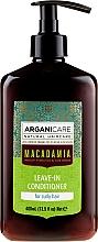 Parfémy, Parfumerie, kosmetika Nesmyvatelný kondicionér pro kudrnaté vlasy - Arganicare Macadamia Leave-In Conditioner