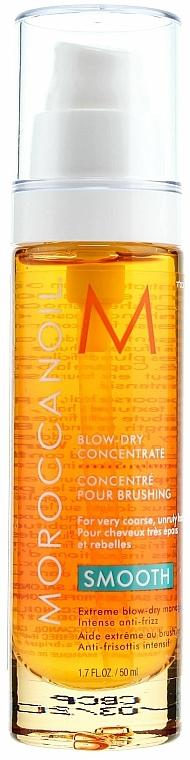 Fénovací koncentrát pro snadný styling a zkrocení krepatých vlasů - Moroccanoil Smooth Blow-Dry Concentrate — foto N1