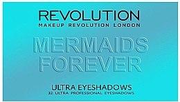 Paleta očních stínů, 32 odstínů - Makeup Revolution Ultra 32 Shade Palette Mermaids Forever — foto N2
