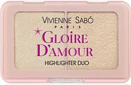 Parfémy, Parfumerie, kosmetika Paleta rozjasňovačů - Vivienne Sabo Vs Gloire D'Amour (01 -Světle růžový)