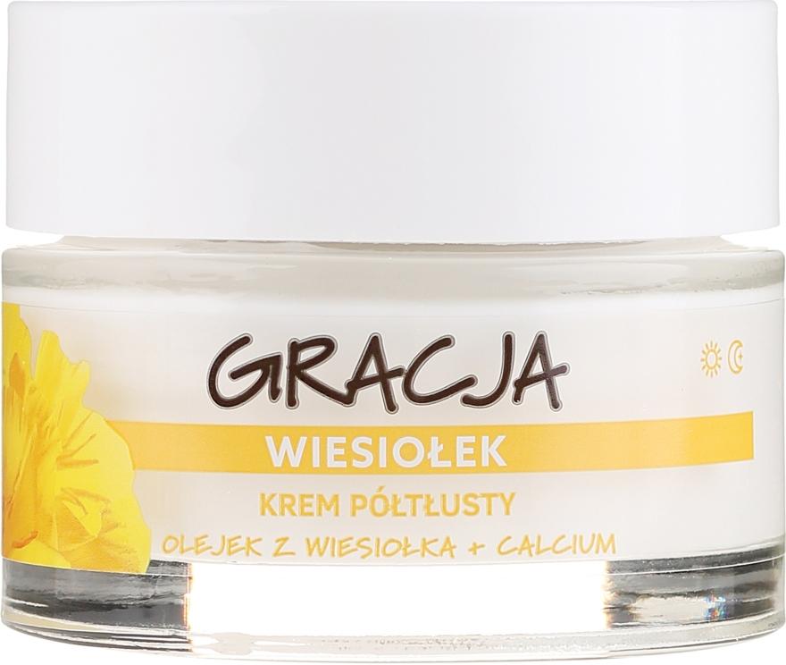 Výživný krém s pupalkovým olejem - Gracja Semi-oily Cream With Evening Primrose — foto N2