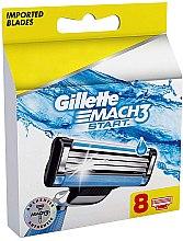 Parfémy, Parfumerie, kosmetika Náhradní hlavice do holicího strojku, 8 ks - Gillette Mach3 Start