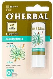 Hydratační hygienická rtěnka s extraktem aloe - O'Herbal Moisturizing Lipstick With Aloe Vera extract SPF15 — foto N1