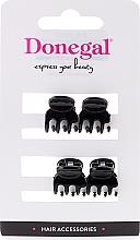 Parfémy, Parfumerie, kosmetika Skřipec na vlasy FA-9930, mini, černý, 4 ks - Donegal Hair Clip