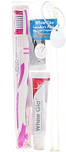 Parfémy, Parfumerie, kosmetika Cestovní sada pro ústní hygienu, růžová - White Glo Travel Pack (t/paste/24g + t/brush/1 + t/pick/8)