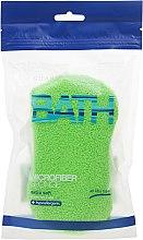 Parfémy, Parfumerie, kosmetika Koupelová houba, zelená - Suavipiel Microfiber Bath Sponge Extra Soft