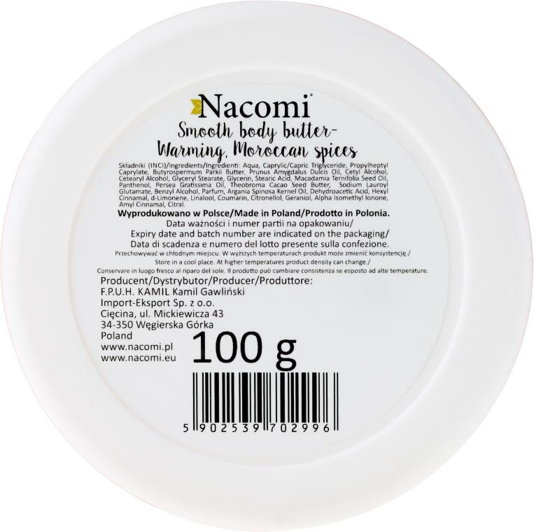 """Tělový olej """"Teplé marocké koření"""" - Nacomi Smooth Body Butter Warming Moroccan Spices — foto N2"""